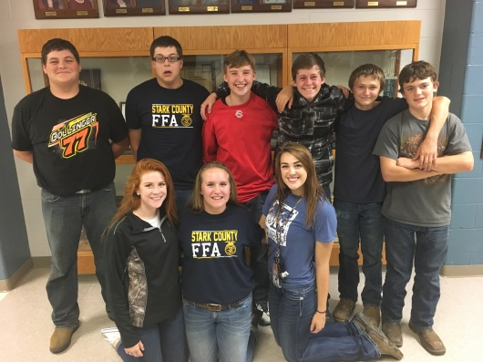 Back Row (L to R): Wyatt Bantz, Mike Steelman, Adam Irving, Troy June, Colton Gallion, and Ryan Bogner. Front Row (L to R): Cammille Gaspard, Jessica Purdy, and Katie McCauley.